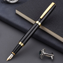 лучшая цена Fountain Pen with Box Writing Calligraphy Signature Painting Adult Students Stainless Steel Pen Body Fountain Pen