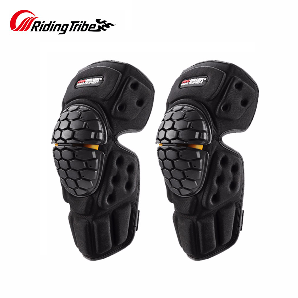 Zerone 4 pcs Motorcycle Motocross Cycling Elbow and Knee Pads Protector Guard Armors Set Black