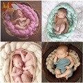 Monkids 2017 Alta Calidad Pretty Basket Mano-tejer Una Manta de Bebé Recién Nacido Apoyo de la Foto Prop Bebé Recibir Mantas Bebé 0-1 T
