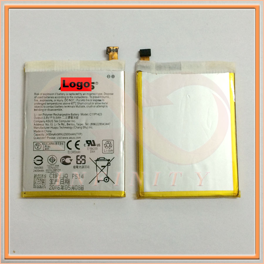 In Stock 2016 Production 100% NEW Original 2500mAh C11P1423 Battery For ASUS Zenfone 2 5 Smart Moble Phone With Tracking Number