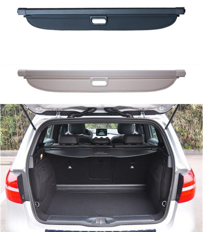 Car Rear Trunk Security Shield Shade Cargo Cover For Benz B Class W246 B180 B200 B260 2015 2016 2017 (Black beige) car rear trunk security shield shade cargo cover for nissan qashqai 2008 2009 2010 2011 2012 2013 black beige