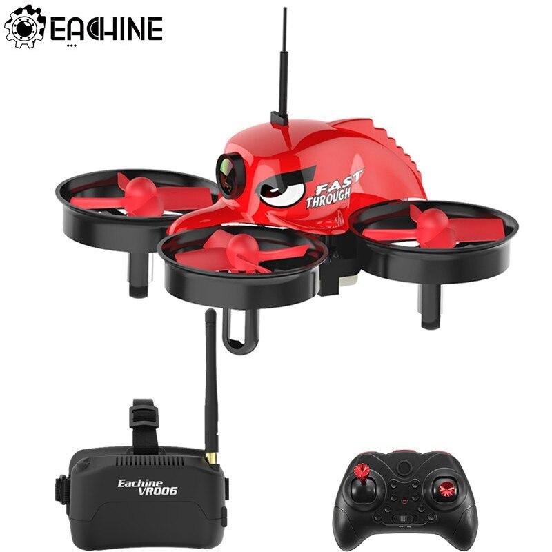 Eachine E013 Micro FPV RC course quadrirotor avec 5.8G 1000TVL 40CH caméra VR006 VR-006 3 pouces lunettes VR casque hélicoptère jouet