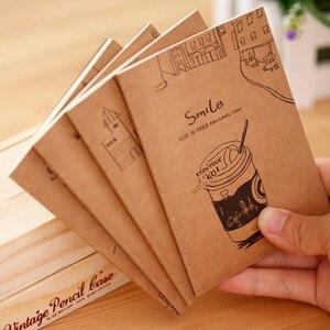 1 шт. хорошая крафт-бумага, мягкий чехол, мини-дневник, карманный блокнот, промо-подарок, Канцтовары E0376