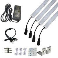 4pcs 8520 led strip 5A adapter LED Under Cabinet Light 8520 Korea 12V Kitchen Light Closet Wardrobe strip light