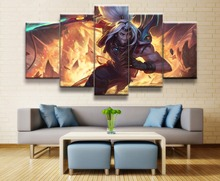 Riven League of Legends Game 5 Piece HD Print Paintings on Canvas Wall Art Poster Prints Modern Decorative Living Room Artwork riven doggeries