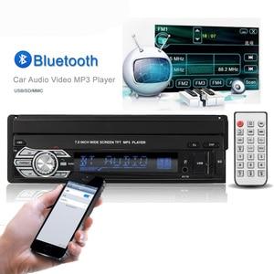 "Image 4 - Podofo One din Car radio MP5 Player GPS Navigation Multimedia car audio stereo Bluetooth 7"" HD Retractable Autoradio AUX IN /FM"