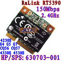 Rt5390 Half Size Mini Pcie Wifi Card 802.11bgn Hp436 435 431 4230s 4330s Sps:630703-001 Internal 150mbps Wireless For Laptop