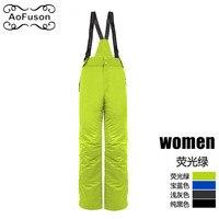 Winter Snowboard Ski Pants Women Windproof Waterproof Sport Keep Warm Female Trousers Camping Riding Skiing Snow Pants Broek