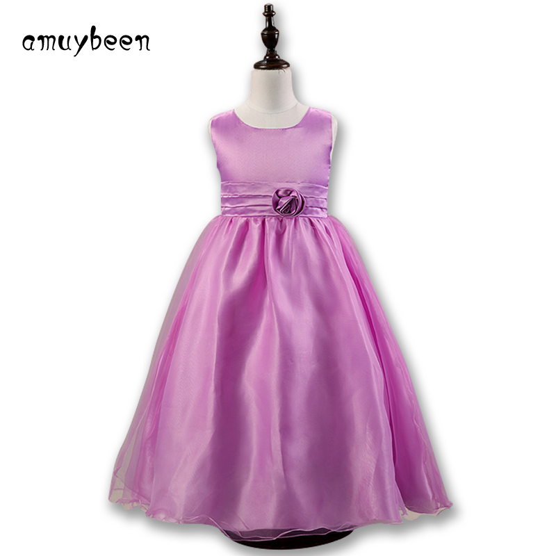 2c9fd4f96 Amuybeen Wedding Party Sleeveless Princess Girl Dress Birthday ...