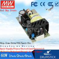 (6PACK) Meanwell 60W Medical Switching Power Supply RPD 60A 5V5.5A+12V2.2A PCB Dual Output RPD 60B 5V3.85A+24V1.65A