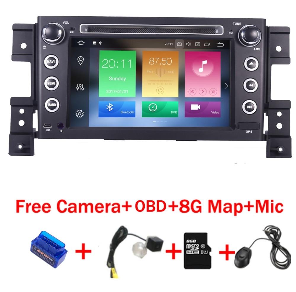 4g + 32g 8 Core Android 8.1 autoradio lecteur multimédia pour Suzuki grand vitara dvd gps avec volant Wifi 4g OBD BT SD Carte