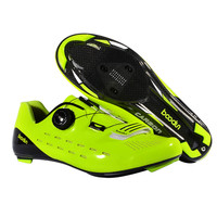 NEW Road Bike cycling lock shoes professional competition grade carbon fiber ultralight 440G breathable non slip bicycle shoes