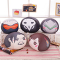 New Overwatches Plush Pillows Toys 30cm OW Reaper Tracer Hanzo Genji Solf Stuffed Plush Round Cushion Kids Toys brithdays Gifts