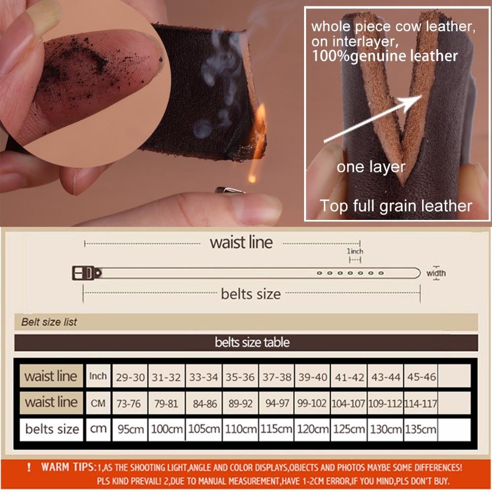 Image 5 - 2017 New men belt top full grain 100% real genuine cowskin leather soft jeans belt TM053jeans beltbelt topmen belt -