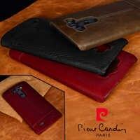 Pour LG G4 G5 G7 G6 V20 V30 Pierre Cardin offre spéciale marque en cuir véritable dur couverture arrière de luxe en cuir étui de téléphone livraison gratuite