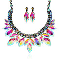 European and American big fashion sense of luxury crystal necklace accessories banquet dinner dress accessories necklace  0691