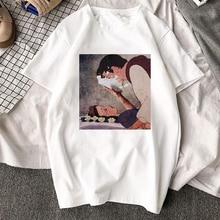 FIXSYS Summer Punk Women T Shirt Cartoon Tops Tee White Harajuku T Shirt O-neck Tee Print Tops Tee Fashion Short Sleeve T-shirts cartoon figure print tee