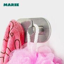 лучшая цена clothes hook Modern Bathroom accessories 1 2 3 4 Hooks Wall mount stainless steel Towel Holder hook restroom Tower Hooks