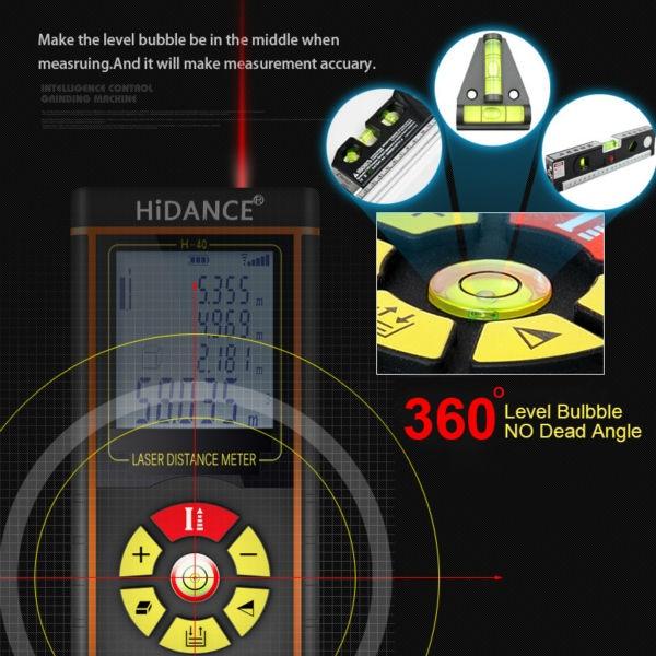 """""""HiDANCE"""" lazerio diapazono ieškiklio statybiniai įrankiai - Matavimo prietaisai - Nuotrauka 3"""