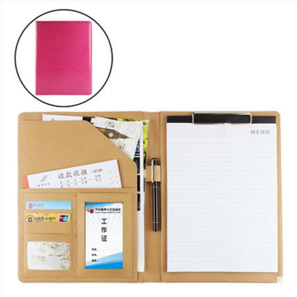 Free shipping A4 stationeries file holder size folder paper for documents business leather cover fichario pasta escolar /W007 free shipping office stationery a4 folder powerful single double clip pp material no peculiar smell carpetas pasta escolar w001