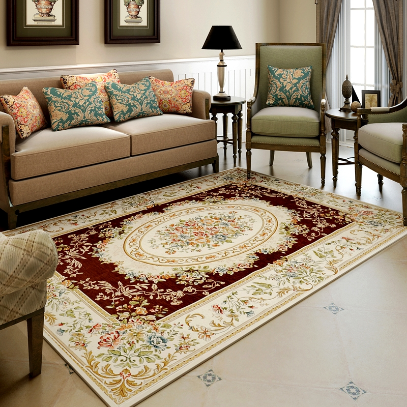 US $72.45 10% OFF|200X290CM Big Europe Classic Carpets For Living Room Home  Bedroom Rugs And Carpets Study Room Floor Mat Soft Table Area Rug-in ...