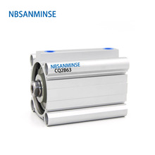 NBSANMINSE CQ2B63 ISO Compact Cylinder SMC Type Double Acting Pneumatic 10Bar Pressure