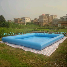 Sell 10/8 m blue square inflatable swimming pool, PVC inflatable swimming pool, with free air pump. iendycn baby swimming pool three layers inflatable square green pvc swimming pool gxy173