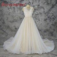 2018 nowy projekt szampana i kości słoniowej koronki suknia ślubna custom made suknia ślubna fabryka bezpośrednio cena hurtowa sukienka dla nowożeńców