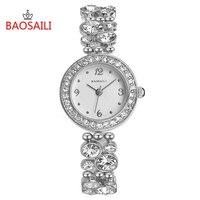 Baosaili Brand High Quality Rhinestone Crystal Bangle Bracelet For Women Wristwatches Bracelet Watch Fashion Luxurious Bs8209