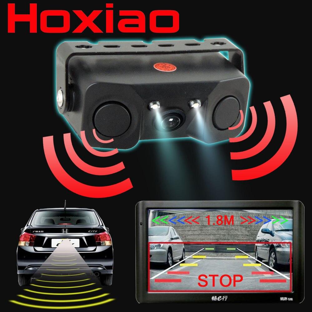 car rear view camera add reversing radar sensor night vision led light high definition 3 in1. Black Bedroom Furniture Sets. Home Design Ideas