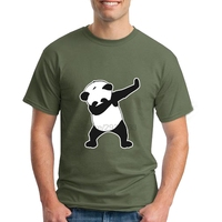 Awesome Shirt Designs For Mens Crew Neck Dab Life Panda Dance Funny Short Sleeve Clothes Comfortable