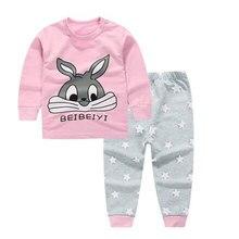 2016 Newborn baby Girl/boys Sleep wear clothing Set children cartoon Pajamas Suit Long johns kids Cotton autumn winter Underwear