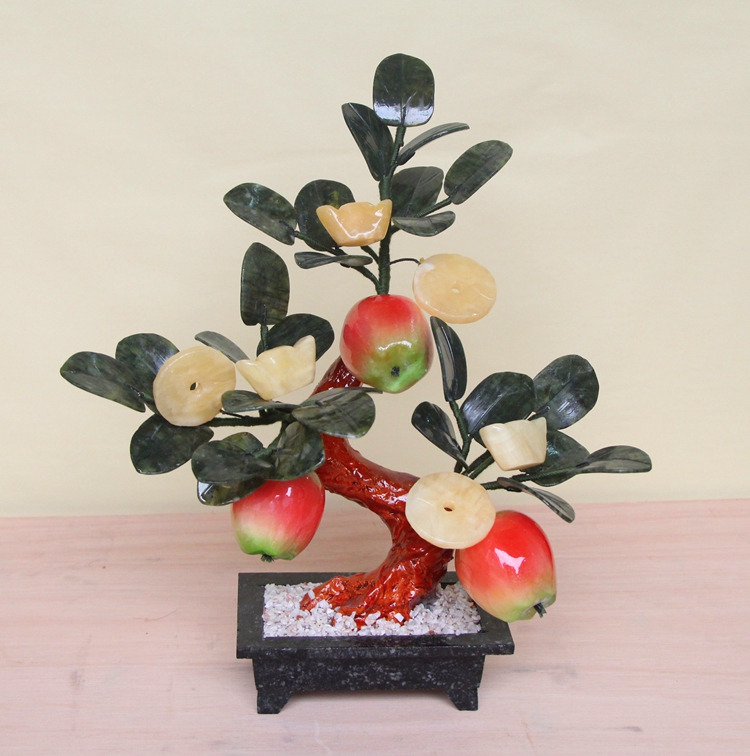 Jade Apple shook Qian Shu living room of jade ornaments Home Furnishing decorations crafts creative gifts gifts блокировка руля car of qian