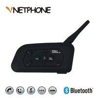 Vnetphone 2017 V4 1200m Bluetooth Motorcycle Bike Interphone 4 Riders Headset Speaker Intercom For KTM Ls2