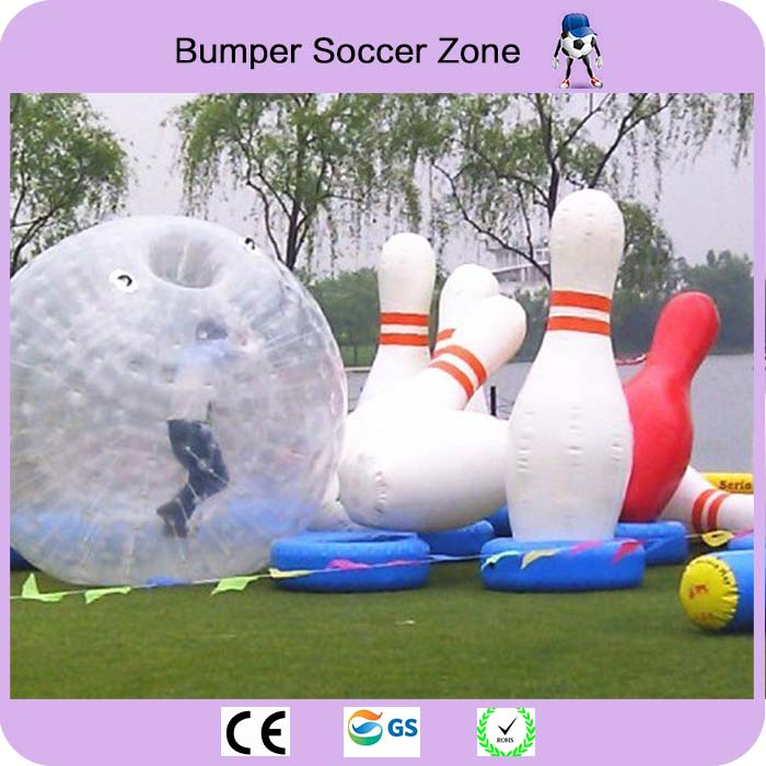 Free Shipping 6 Pieces Lot And 3 Piece Zorb Ball Inflatable Human Bowling Game Zorb Ball For Bowling Free With 1 Pump free shipping 3m pvc inflatable playground zorb ball for kids human hamster ball grass zorbing ball durable zorb ball