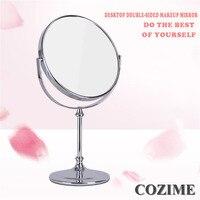 1 pz New Double Sided Ad Alta Definizione Sul Desktop Specchio Stile Europeo 3 Volte Ingrandiscono Fodable Specchio Per Il Trucco Piccolo Specchio Rotondo