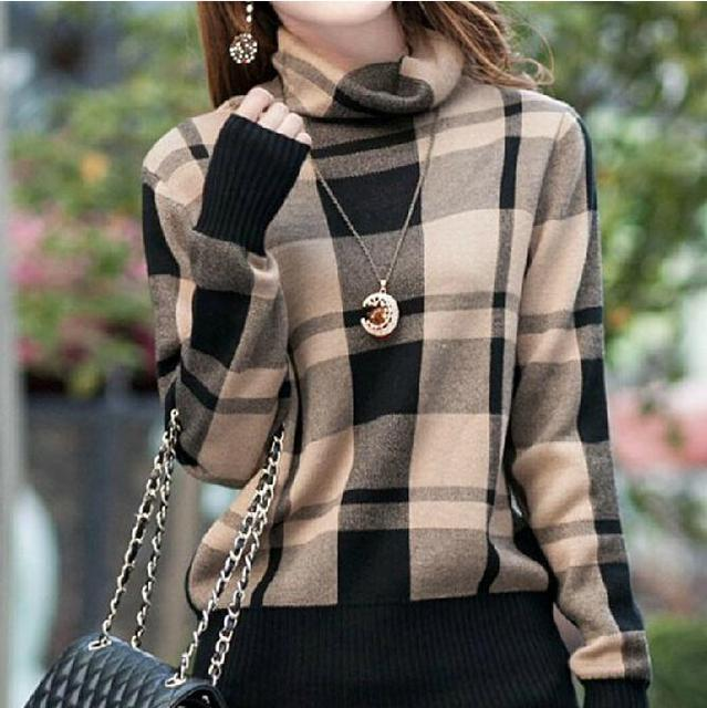 M XXL Large size Turtleneck Sweater 2017 Womens Autumn Fashion ...