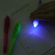 1PC Multifunction Magic LED Lights Invisible Light Pen 2 In 1 UV Black Combination Of Creative Stationery Ink Highligh