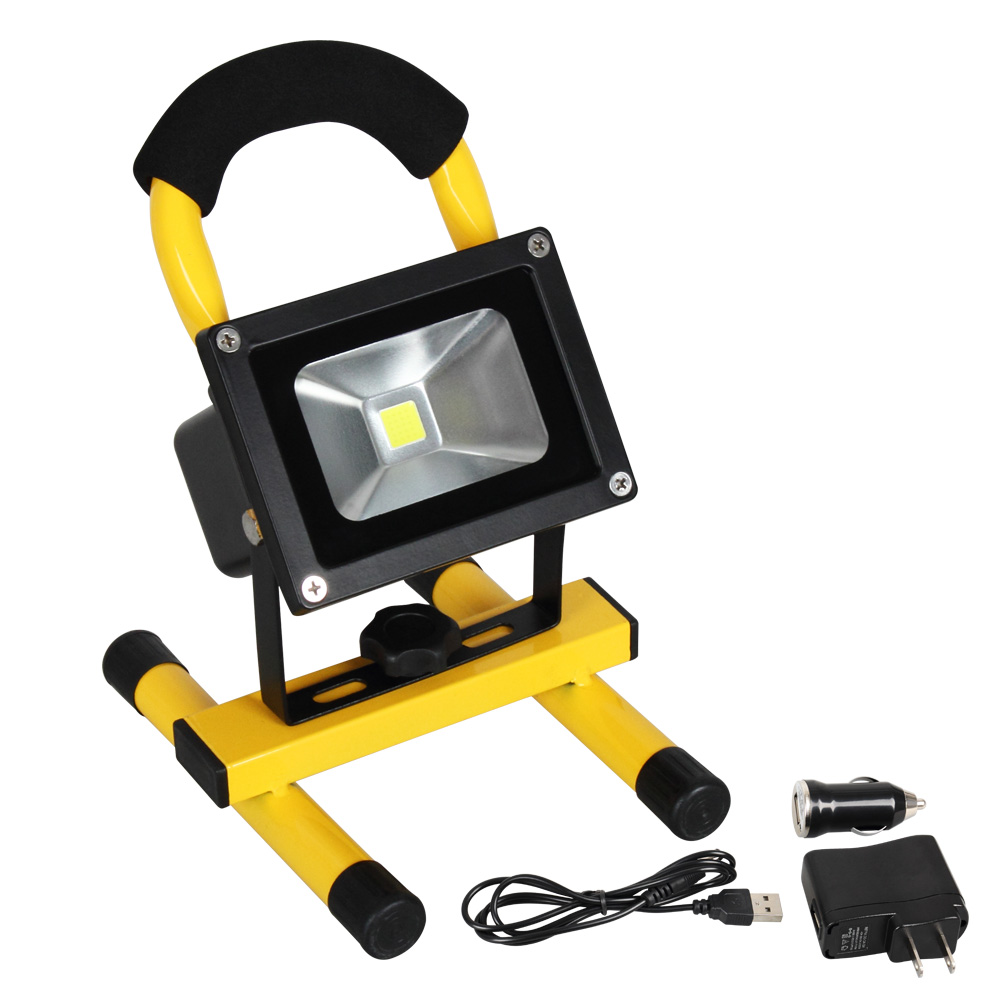 Flood Light Rechargeable Portable LED Floodlight 10W Waterproof IP65 Outdoor  Lighting For Camping Fishing Lighting(