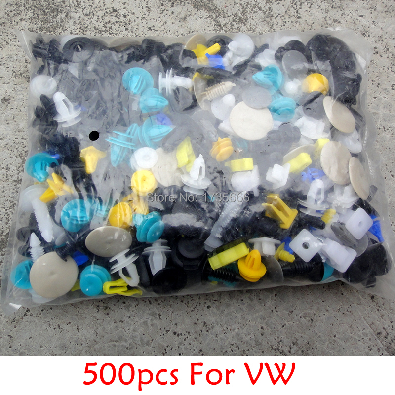 500x Mixed Auto Styling Bumper Clips Retainer Fastener Rivet Fit For Vw Passat R Phaeton Lupo Gti Pointer Cc Jetta Lupo