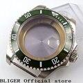 Прочные часы с сапфировым стеклом из нержавеющей стали 43 мм  зеленый керамический ободок  подходят для ETA 2836  автоматическое переключение C48