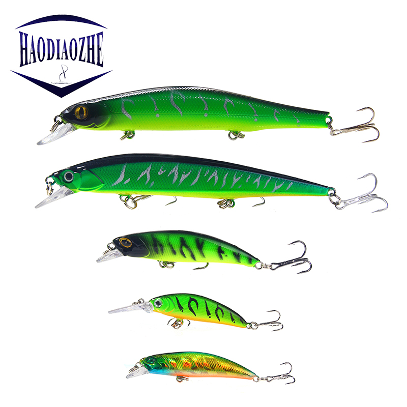 HAODIAOZHE Hot Sale Fishing Lure Minnow Hard Wobblers Crankbaits Lifelike Swimbait Isca Artificial Jerkbait Peche Fishing Tackle