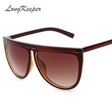 LongKeeper Estilo Gafas de Sol de Gran Tamaño Gafas de Sol de Las Mujeres Retro Verano Unisex Eyewear UV400 gafas de sol Femenino