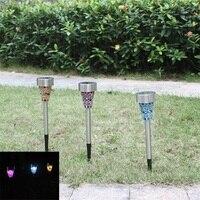 3pcs Lot Solar Lawn Light Spot Light Garden Yard LED Solar Lamps Lights Waterproof Outdoor Path