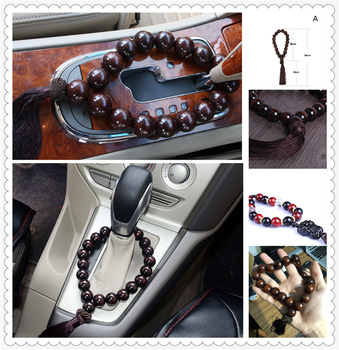Car large black wood stall beads bead interior jewelry ornaments for BMW M8 M550i M550d M4 M3 E92 E38 E91 E53 E70 X5 M M3 image