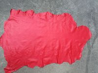 red Genuine sheep skin leather material sale by whole piece