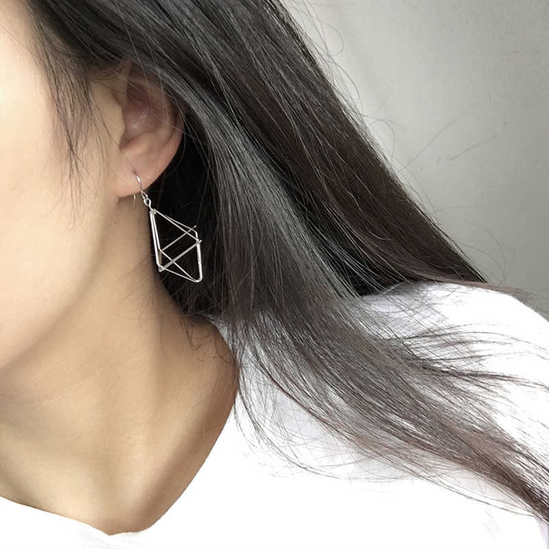 New Europe and America Minimalist Punk Earrings Set for Women Geometric 3D Triangle Hollow Polygon Earrings Party Jewelry 2019