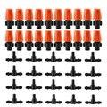 25 Комплектов автоматический полив 360 Регулируемая запотевание сопла орошения капельница