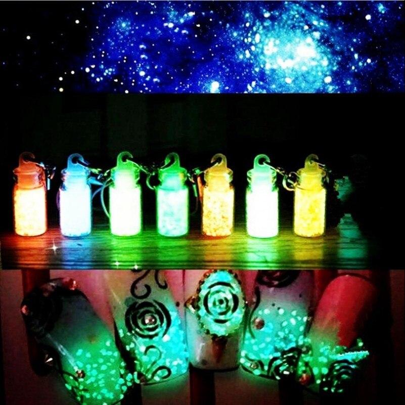 Nagelglitzer Schönheit & Gesundheit 1 Set 8 Stücke Leuchtstoff Pulver Diy Helle Nagel Kunst Glow In The Dark Sand Pulver Pigment Staub Leucht Nagel Glitter 8 Farben/set Der Preis Bleibt Stabil