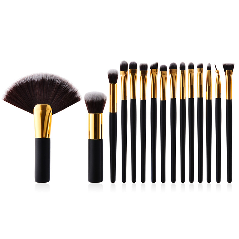 15pcs Classic Makeup Brushes Set Foundation Contour Powder Eye Shadow Eyeliner Lip Blending Brushes Cosmetic Beauty Make Up Tool